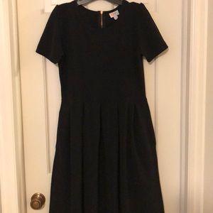 Black Lularoe Amelia Dress - sz L